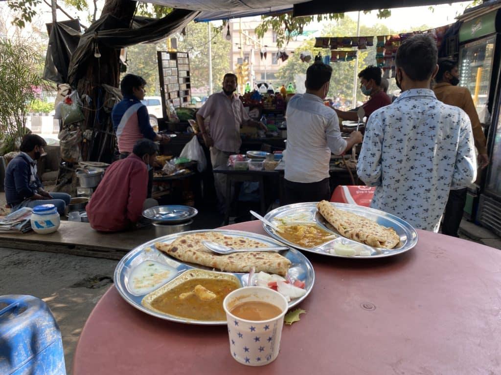 Aloo Parathas Delhi roadside