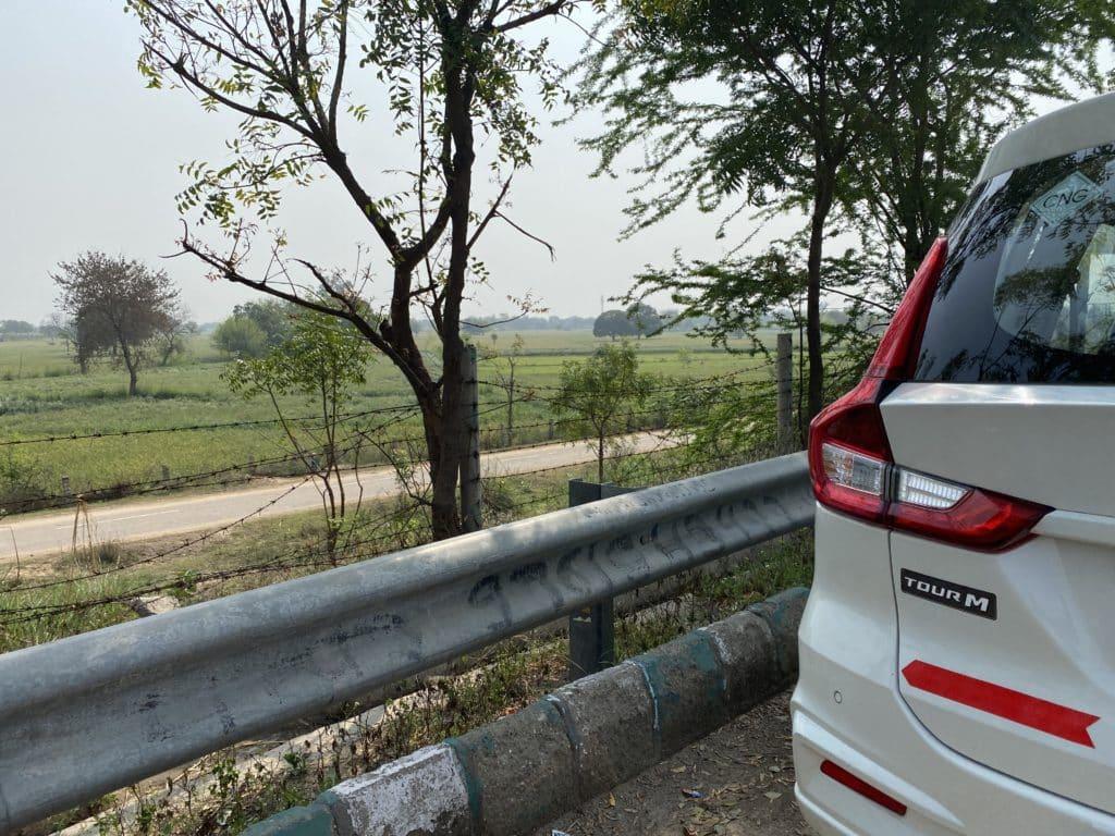 Fields along the Yamuna Expressway