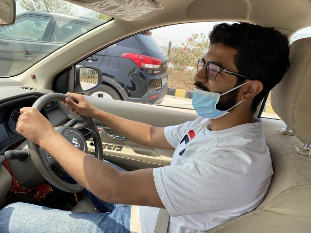 Driving on the Yamuna Expressway