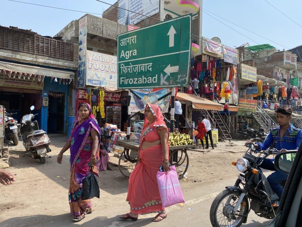 'Agra' signboard in Hathras
